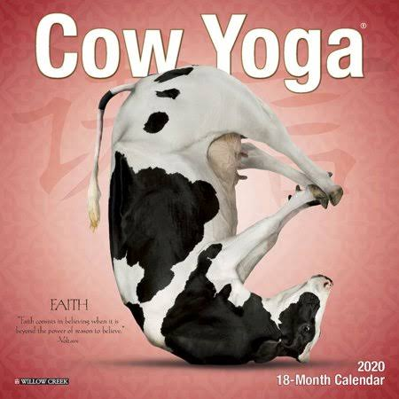 Willow Creek Press Cow Yoga 2020 Mini Wall Calendar