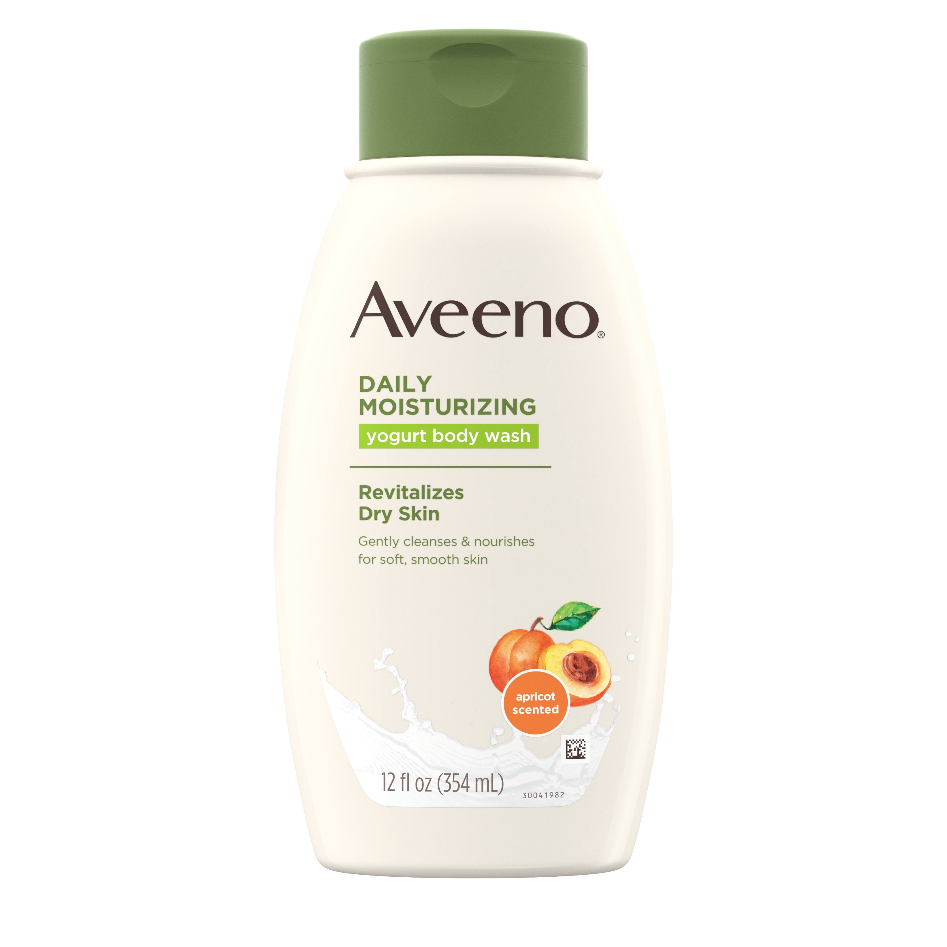 Aveeno Active Naturals Daily Moisturizing Body Yogurt Body Wash - Apricot and Honey, 12oz