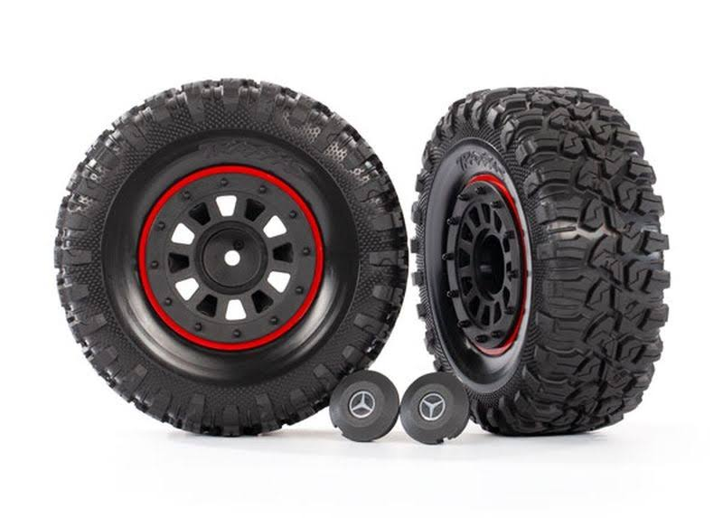 Traxxas 2.2' Black Tires & Wheels Assembled TRA8874