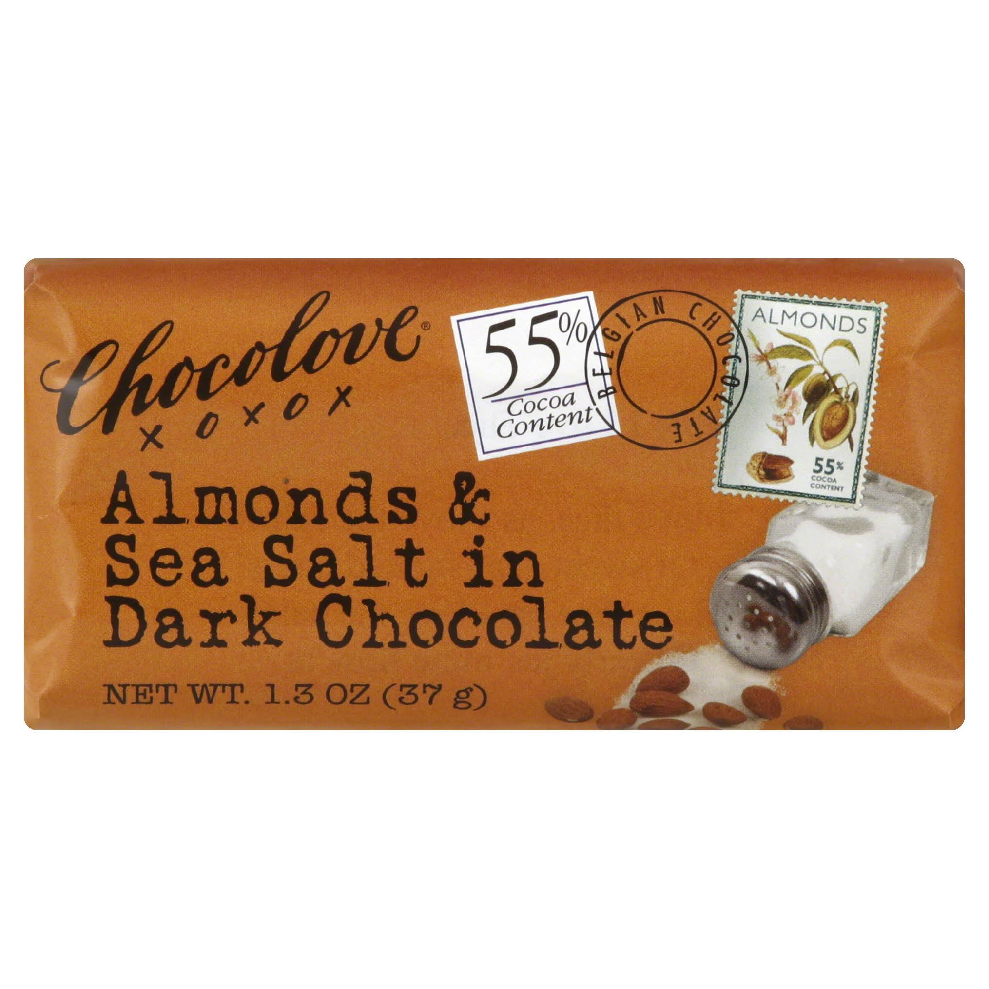 Chocolove Chocolate Bar - Almonds and Sea Salt in Dark Chocolate, 1.3oz