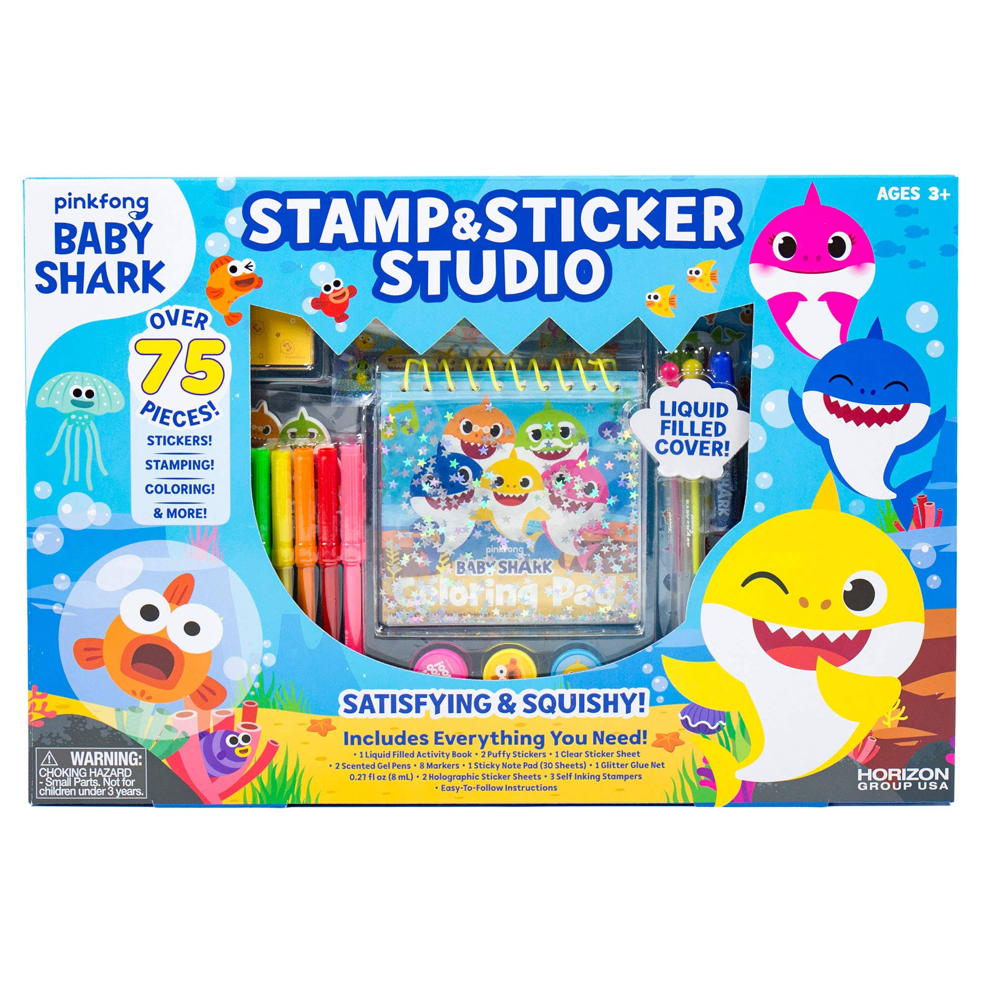 Baby Shark Stamp & Sticker Set
