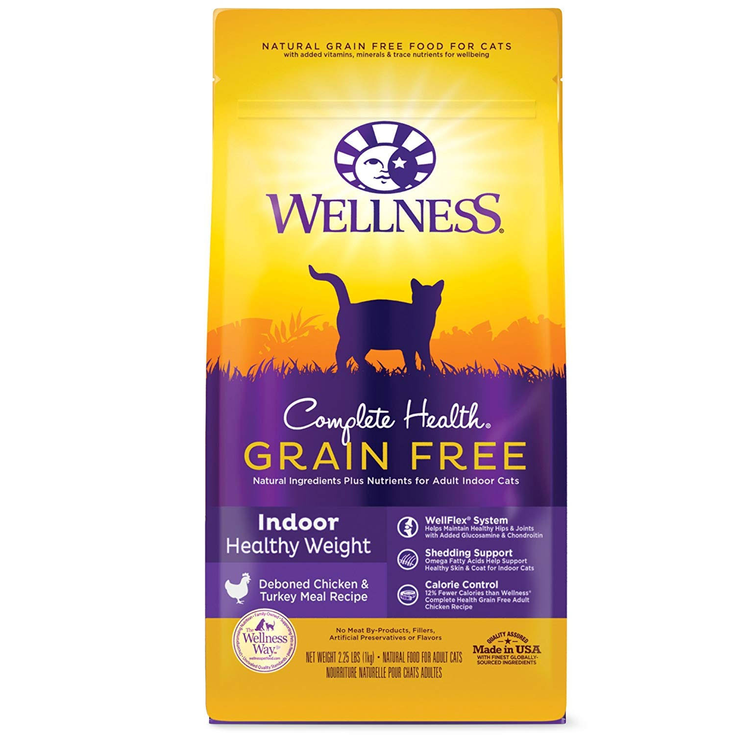 Wellness Complete Health Grain-Free Indoor Healthy Weight Chicken Recipe Dry Cat Food, 2.25-lb Bag