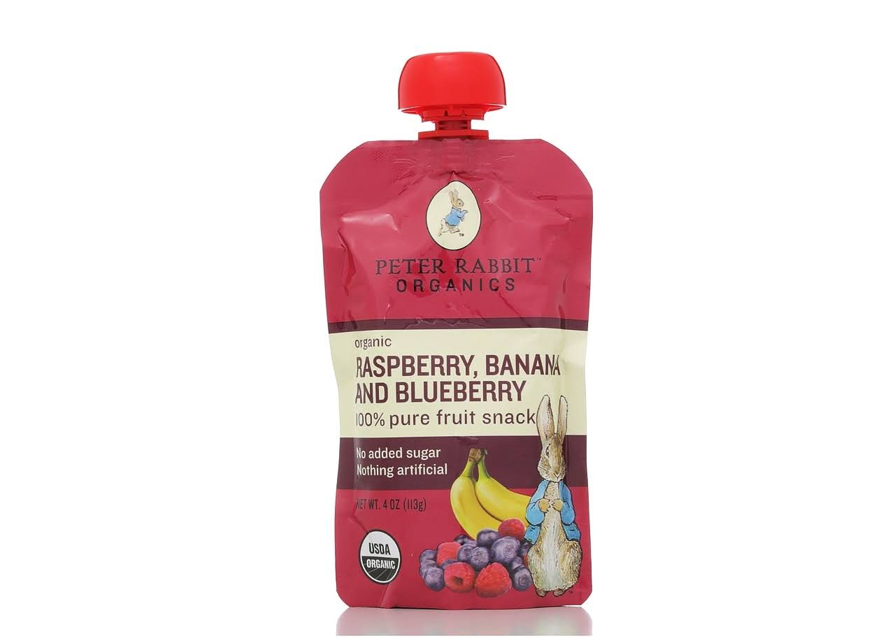 Pumpkin Tree Peter Rabbit Organics Raspberry Banana and Blueberry Fruit Snack - 4oz