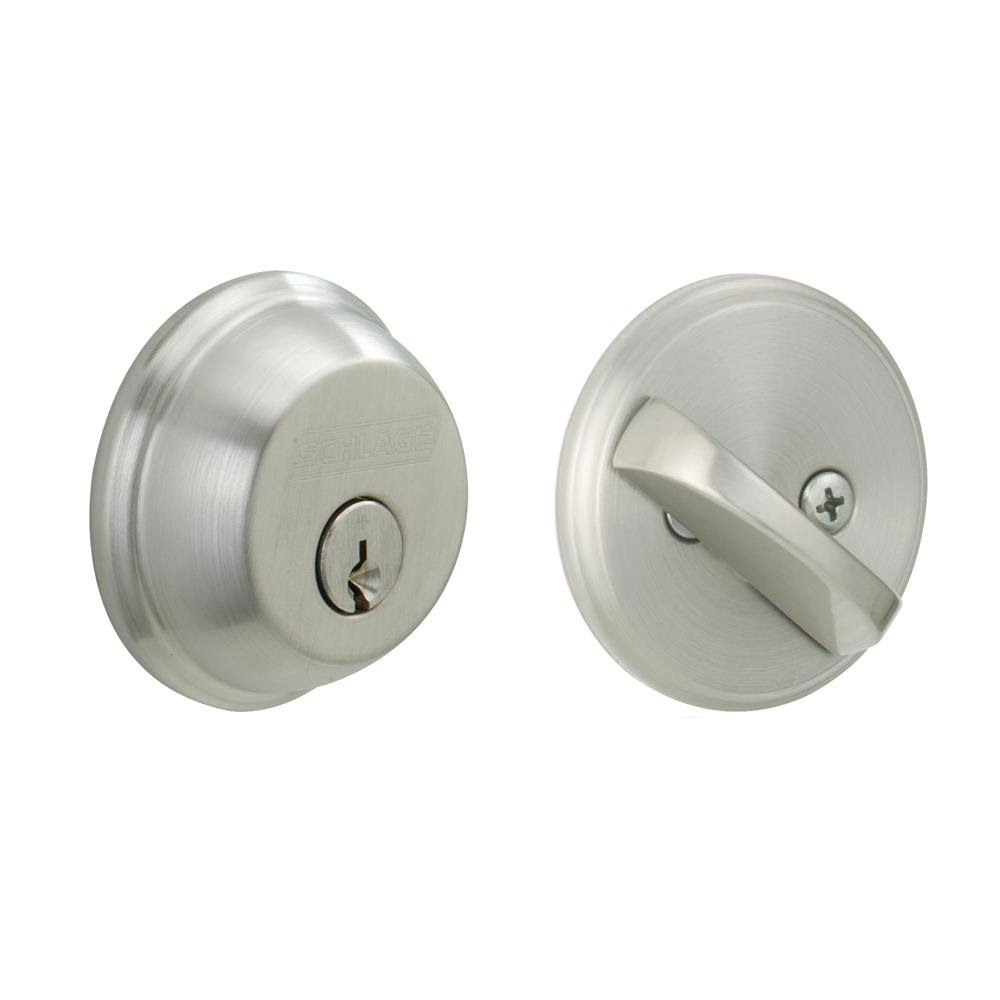 Schlage Single Cylinder Deadbolt - Satin Chrome