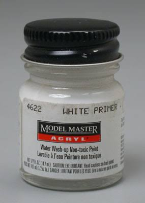 Testors 4622 Model Master White Primer GP0001 1/2 oz