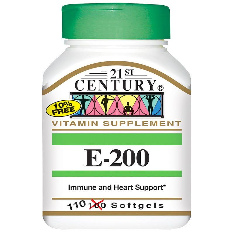 21st Century Vitamin E 200 IU Supplement - 110 Softgels