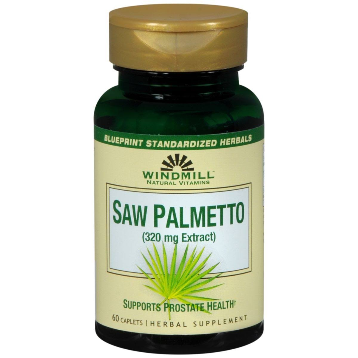 Windmill Herbals Saw Palmetto - 160mg, 60 Caplets