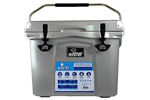Nice Premium G2 Rotomolded Cooler - Gray, 22qt