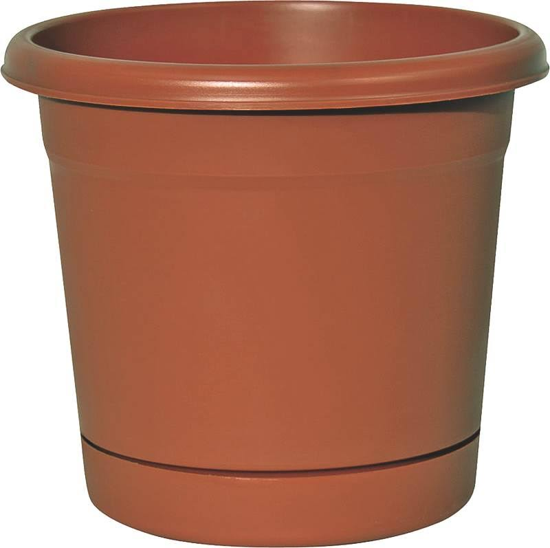 Southern Patio RN1207TC Rolled Rim Planter, Plastic