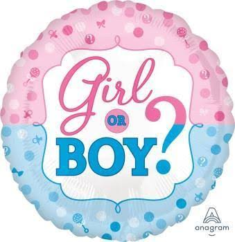 Gender Reveal Foil Balloon - 17""
