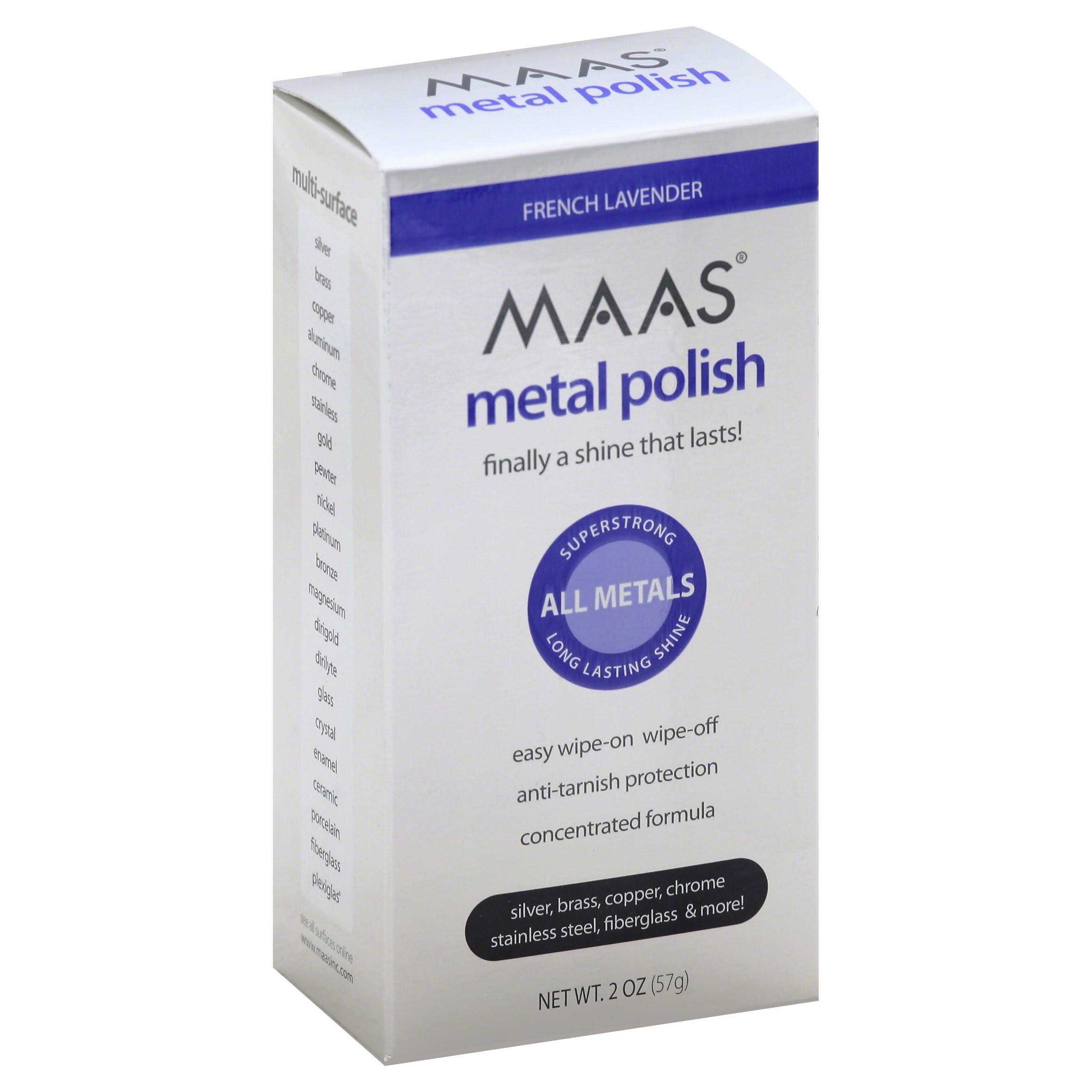 Maas Metal Polishing Creme - for All Metals, French Lavender, 2oz