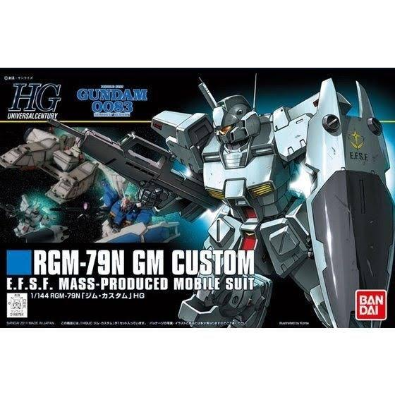 Bandai HGUC 120 Gundam Rgm-79n GM Custom Kit - 1/144 Scale