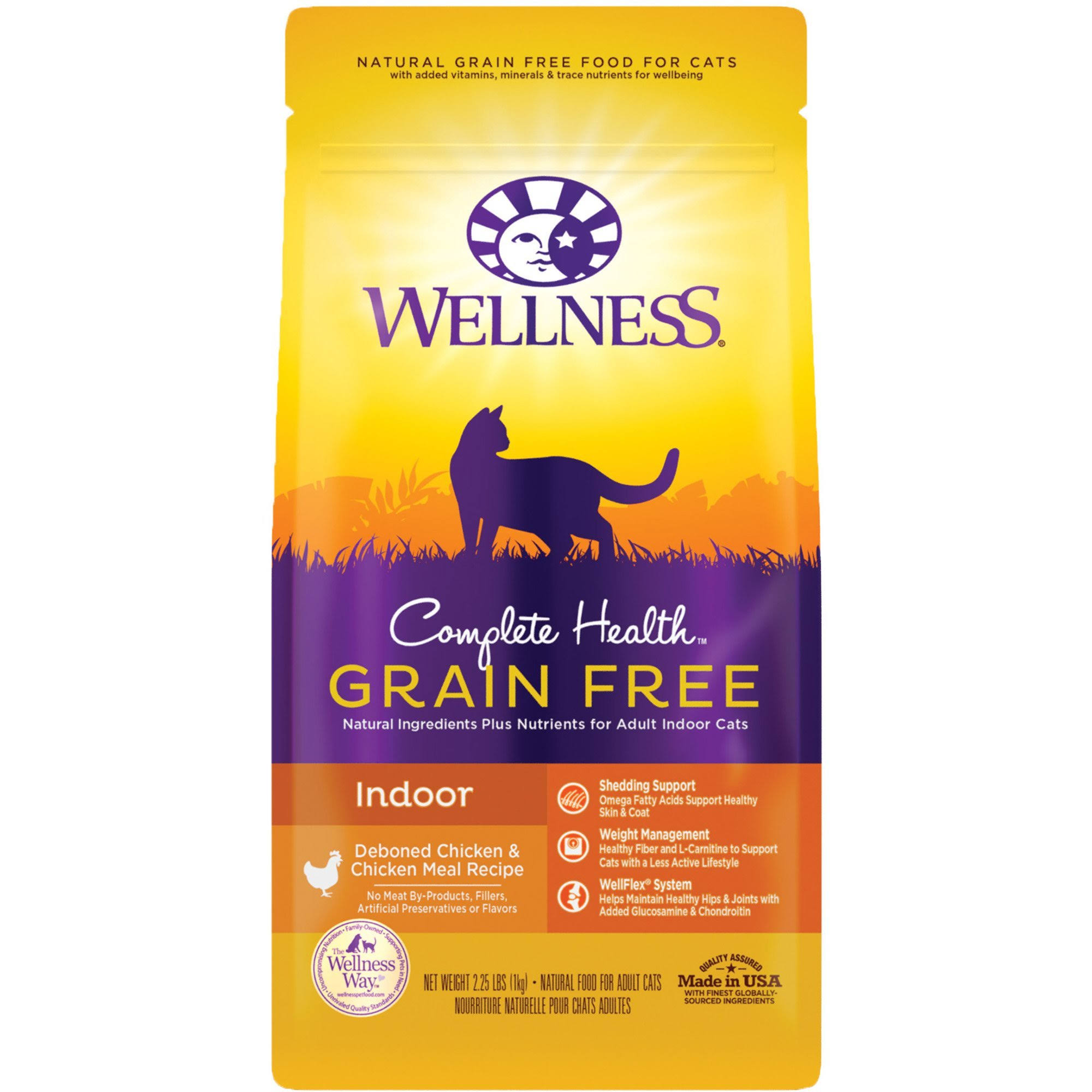 Wellness Complete Health Grain-Free Indoor Deboned Chicken Recipe Dry Cat Food, 2.25-lb