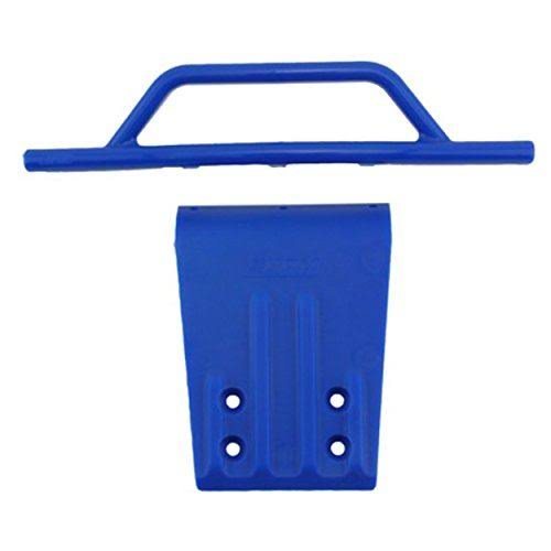 RPM 80955 Front Bumper and Skid Plate - Blue, Traxxas Slash, 2wd