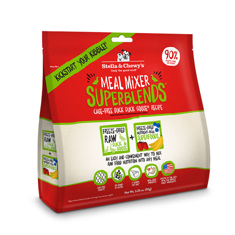 Stella and Chewy's Meal Mixer SuperBlends Dog Food - Cage-Free Duck Duck Goose Recipe, 3.25oz