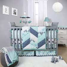 Bratt Decor Crib Skirt by The Peanut Shell Mosaic 3 Piece Crib Bedding Set Features Pieced