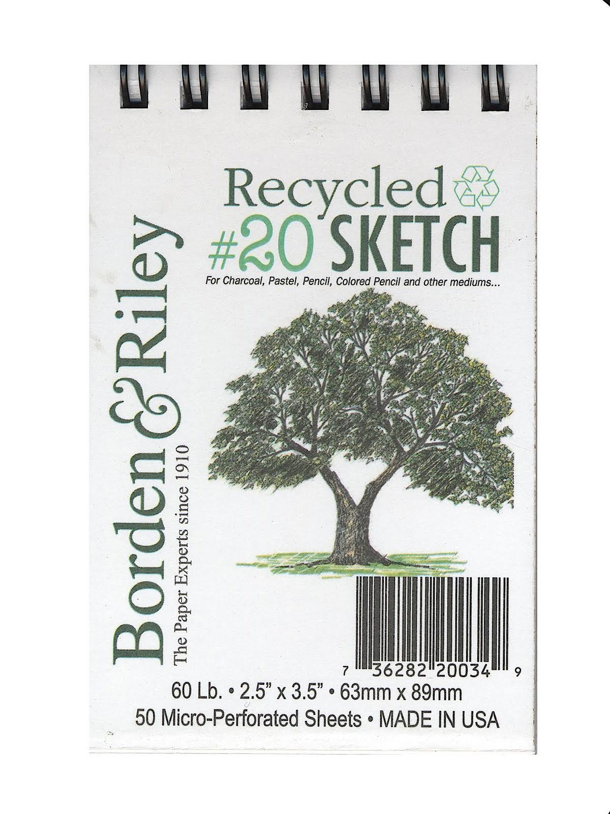Borden & Riley #20 Recycled Artist Sketch Paper