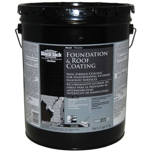 Black Jack Non-Fibered Roof Coating and Primer - 4.75gal