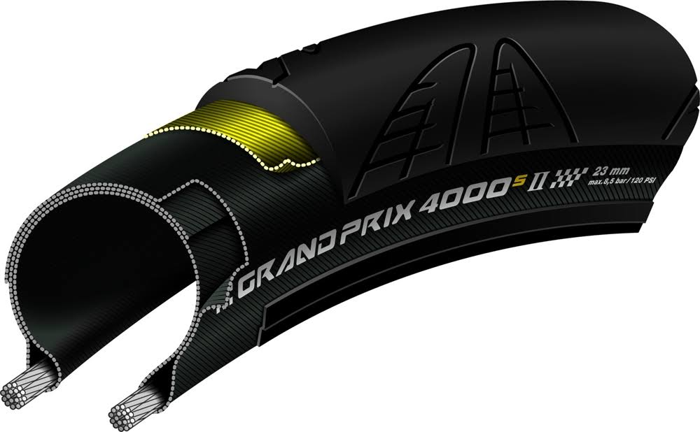 Continental Grand Prix 4000 S II Road Clincher - Black
