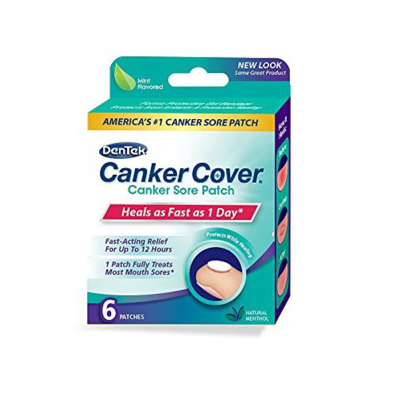 Dentek Canker Cover Canker Sore Patch - 6 ct