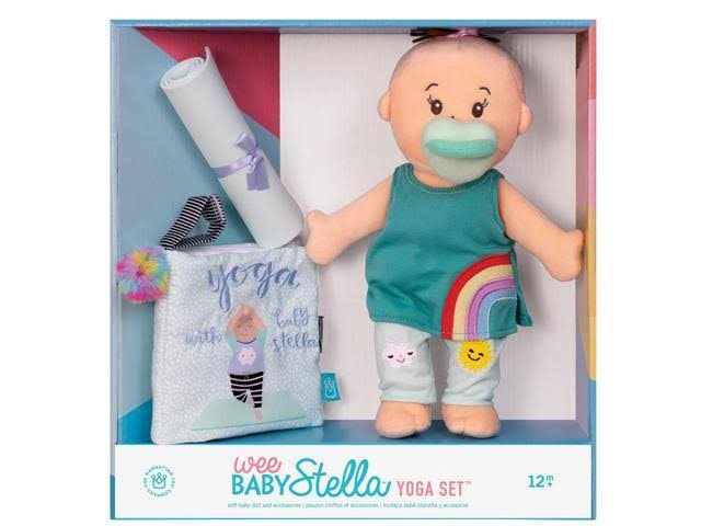 "Manhattan Toy Wee Baby Stella 12"" Soft Baby Doll with Yoga Set"