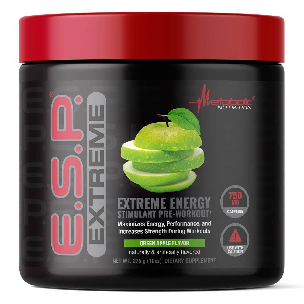 Metabolic Nutrition ESP Extreme Energy Supplement - Blue Raspberry, 10oz