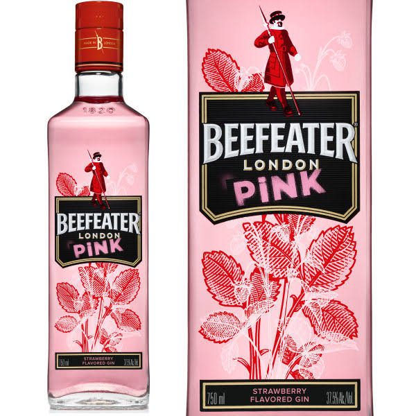 Beefeater Gin, London Pink, Strawberry Flavored - 750 ml