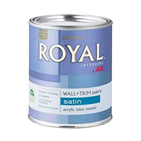 Ace Royal Touch Interior Satin Latex Wall + Trim Paint, White - 1 qt can