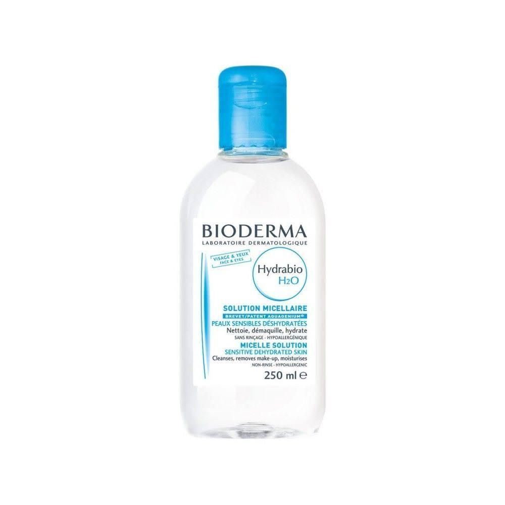 Bioderma Hydrabio H2O Micelle Cleansing Solution - For Dehydrated and Sensitive Skin, 250ml
