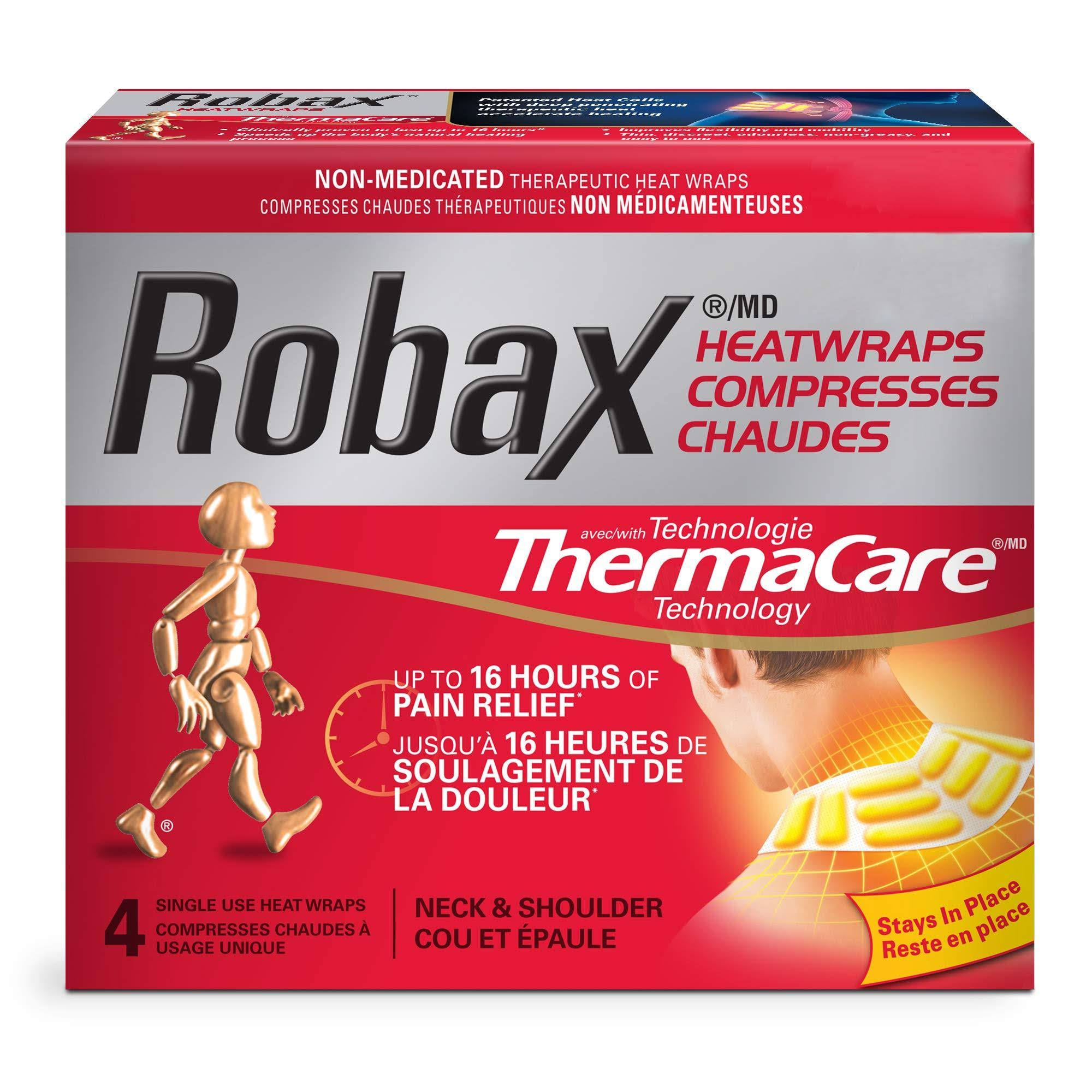 Robax Heatwraps 4 Count Thermacare Neck Shoulder Non