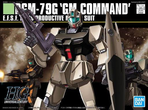 Bandai Hguc 046 Gundam RGM 79G GM Command 1/144 Scale Kit