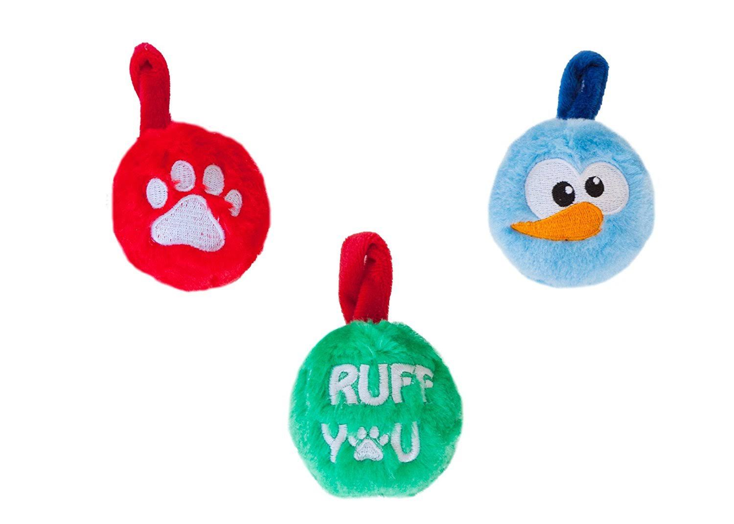 Outward Hound Plush Ornaments for Dog 3 Pack