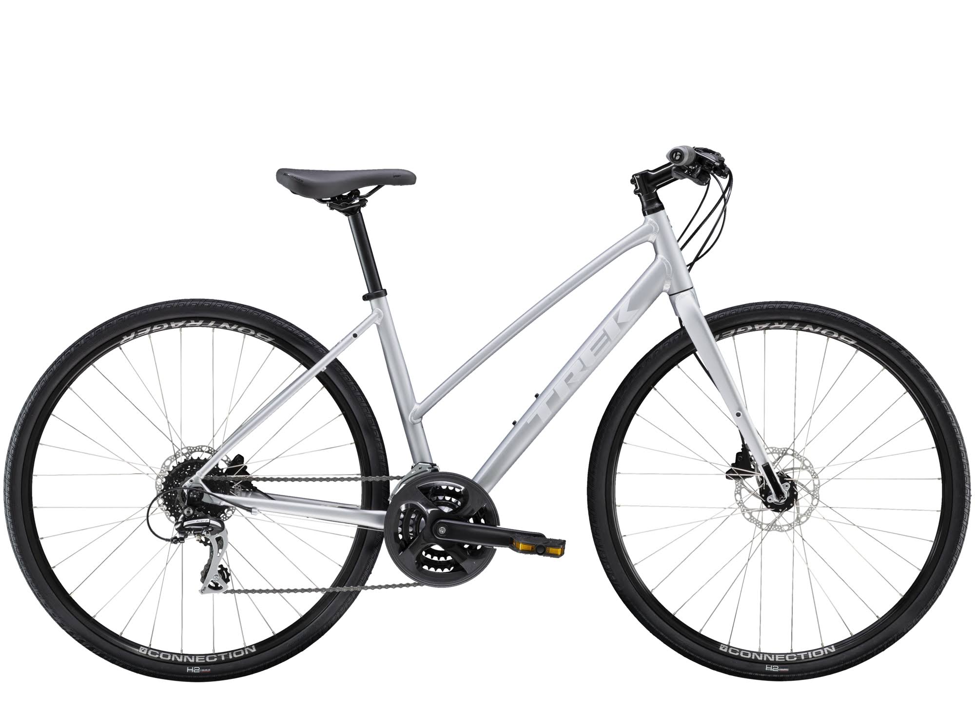 Trek FX 2 Disc 2020 Womens Stagger Hybrid Bike Quicksilver