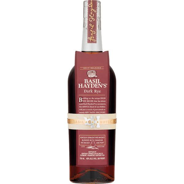 Basil Haydens Whiskey, Dark Rye, 2017 - 750 ml