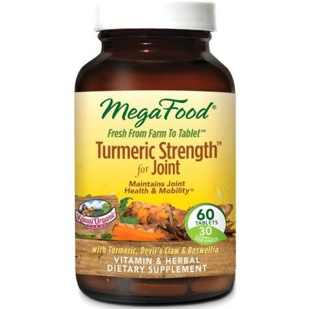 MegaFood Turmeric Strength for Joint Dietary Supplement - 60 Tablets
