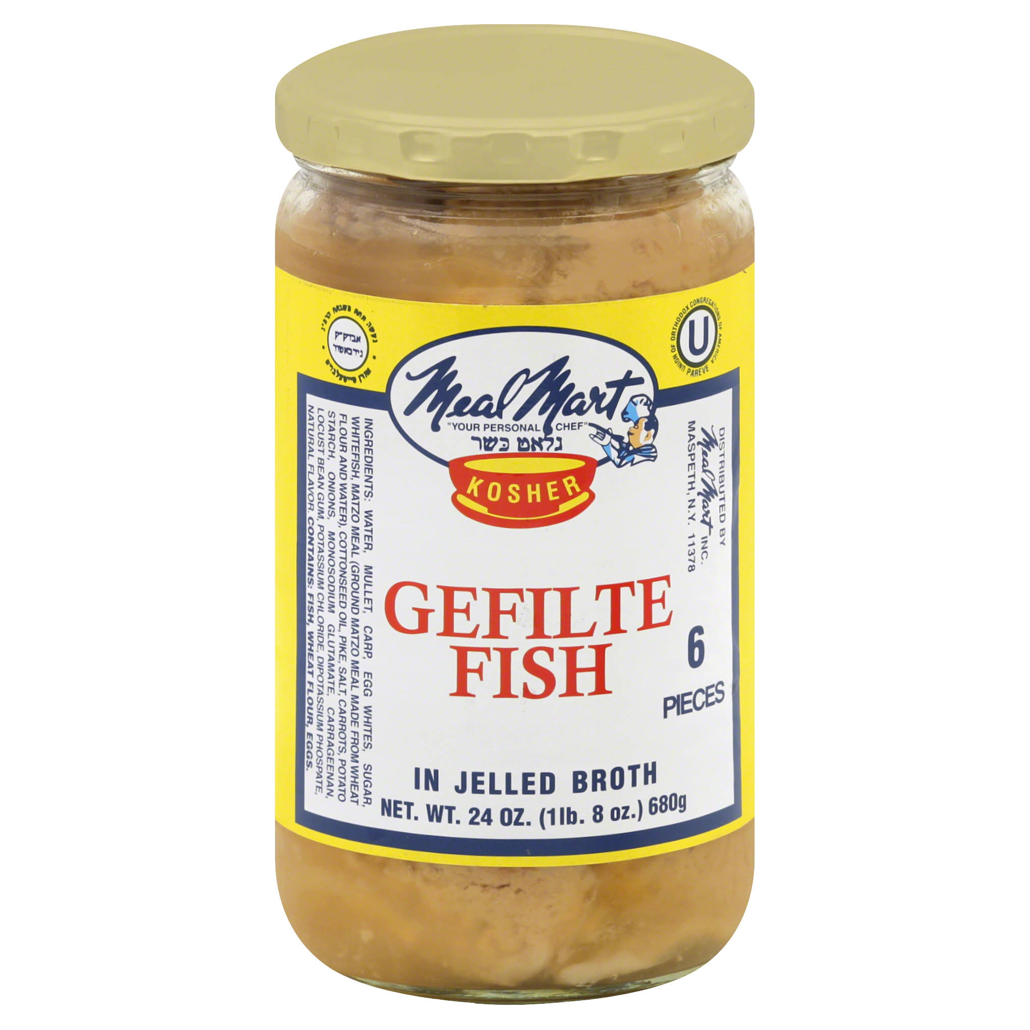 Mealmart Gefilte Fish Jar - 24oz