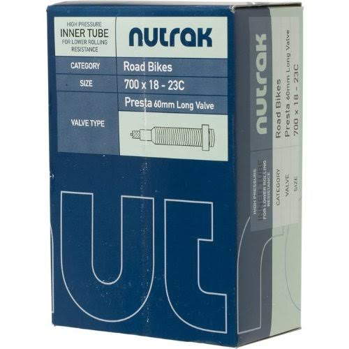 Nutrak Long Valve Inner Tube (700 X 18 - 23C, Presta, 60 mm)