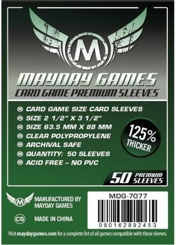 Mayday Games Card Game Sleeves - Dark Green