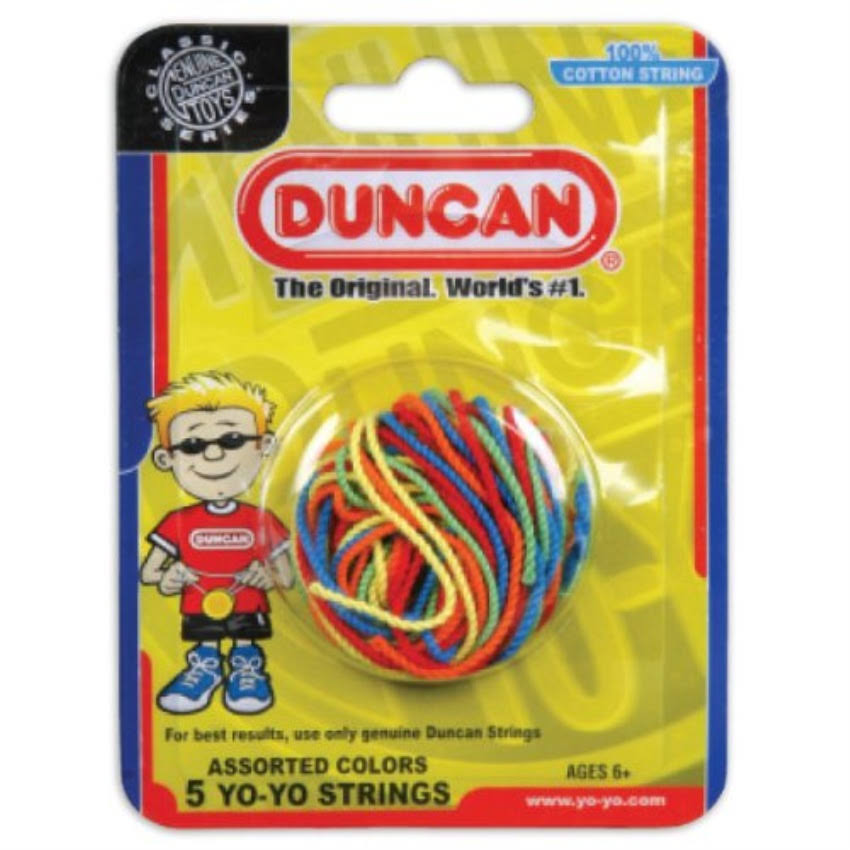 Duncan Yo Yo String - Multi Color, 5pk