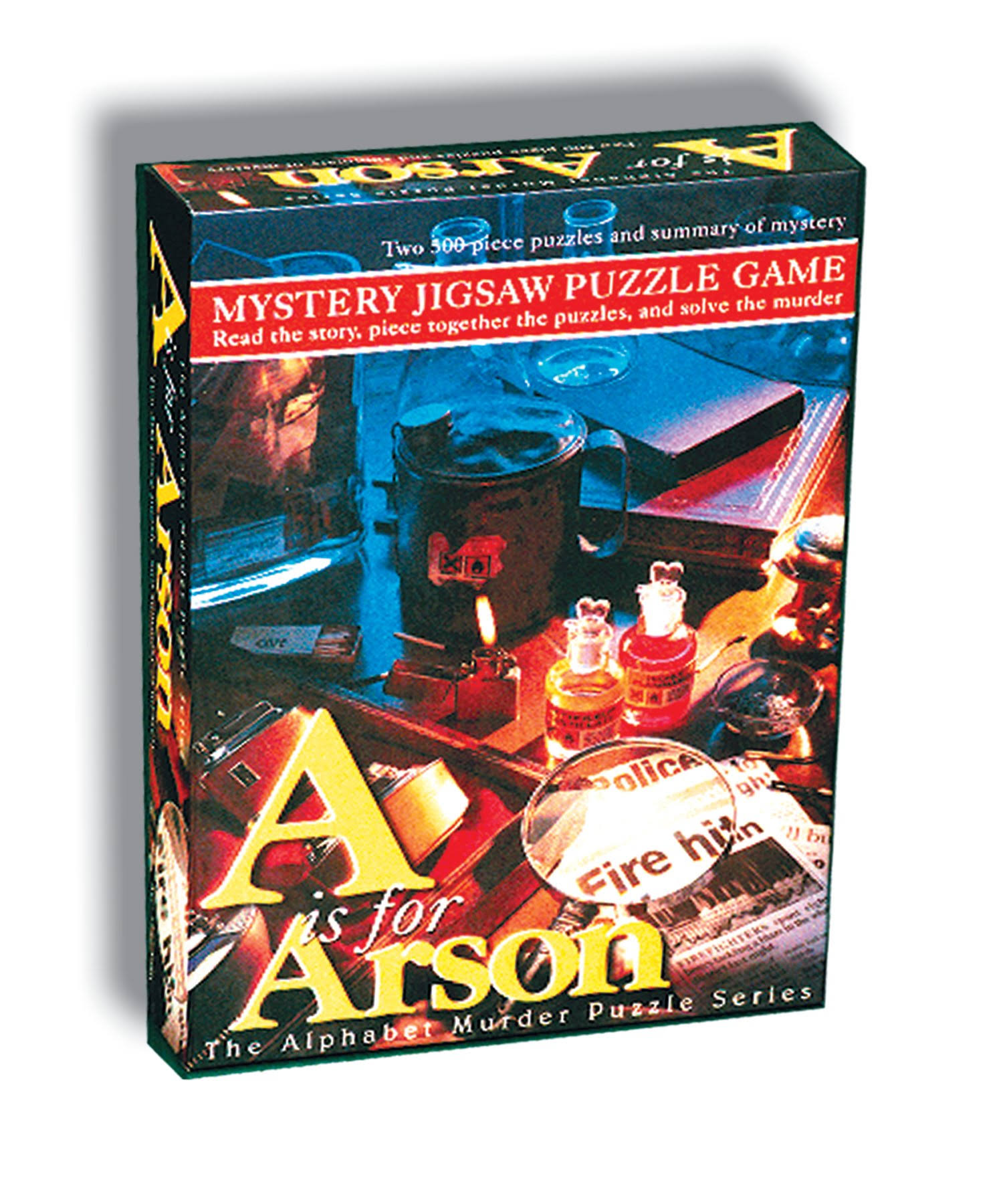A is for Arson Mystery Jigsaw Puzzle Game - 500pc