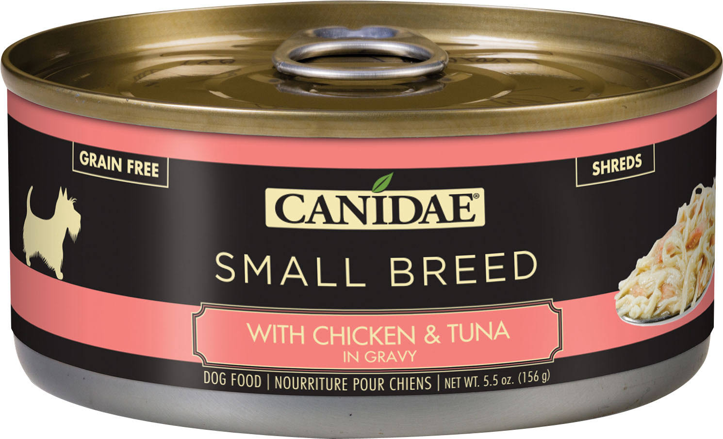 Canidae Pure Small Breed Stew Wet Dog Food - Natural, Grain Free Size: 5.5 oz, copper/gum/olive, Chicken & Tuna, Adult