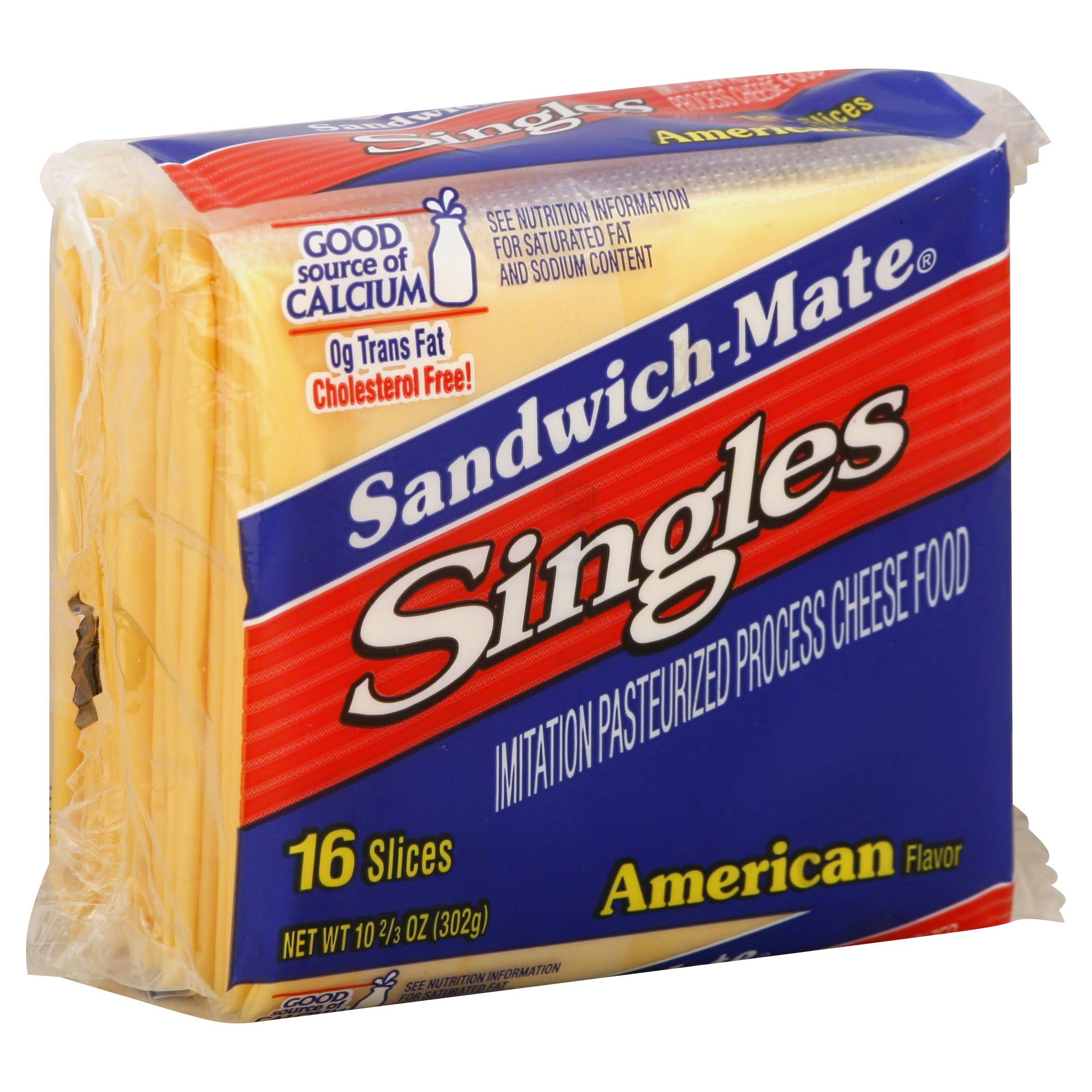 Sandwich-Mate Singles Cheese - American Flavor, 16 Slices, 302g