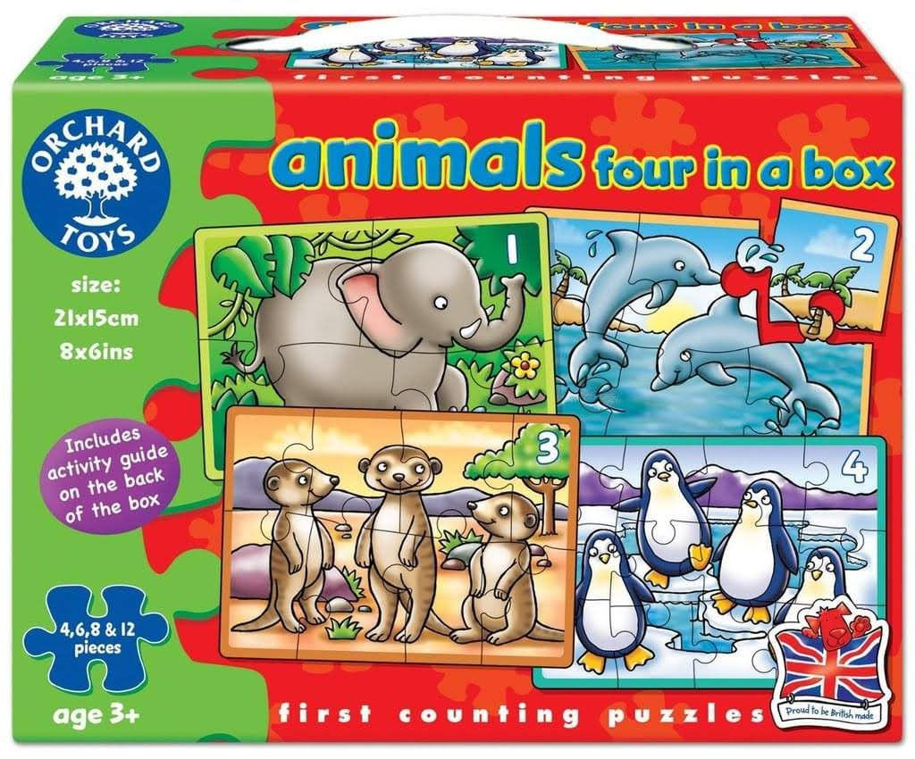 Orchard Toys Animals 4 In A Box Puzzle