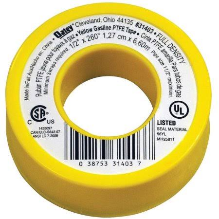 "Oatey Gas Line Tape - 1/2"" x 260"", Yellow"