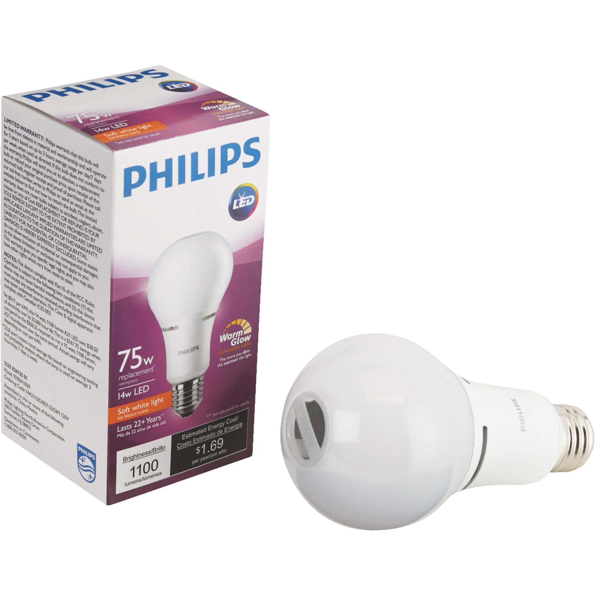 Philips Lighting Led Bulb - 12W, A21