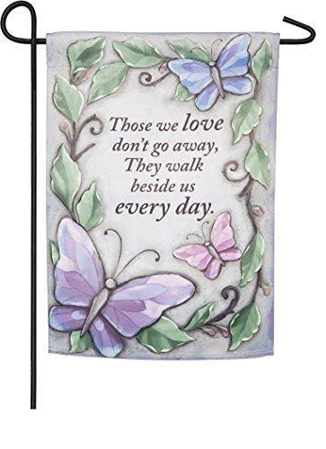 Evergreen Suede Garden Flag - Loved Ones Memorial