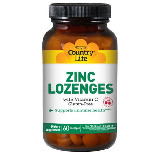 Country Life Zinc Lozenges - 60 Lozenges, Cherry
