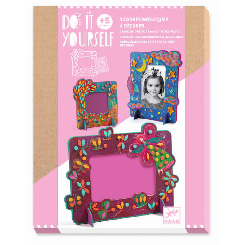 Djeco Do It Yourself Mosaic Frames - Fairy-Like DJ07904