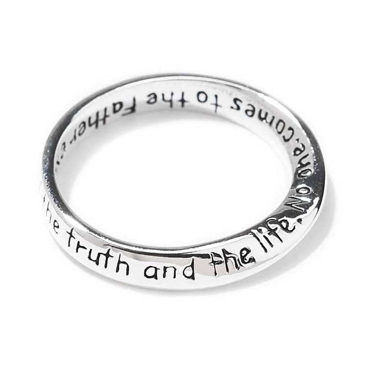 Dicksons, John 14:6 Inspiring, Twist Ring, Silver Plated