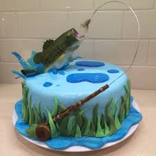 Cake Decoration Ideas For A Man by Fly Fishing Cake For My Hubby Bass Jumping Out Of Water Bass